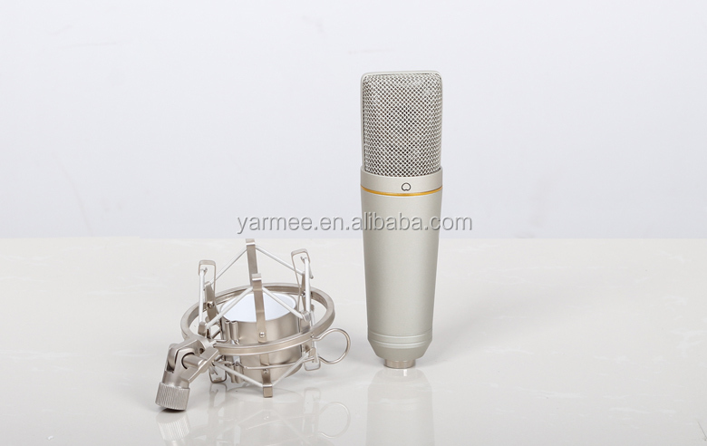 Latest Yarmee wired XLR condenser recoring musical microphone YR02 for studio Karaoke microphone