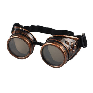 Party DIY Supplies Gothic Steampunk Goggles Glasses Adult Cosplay Eyewear Punk Vintage Party Sunglasses