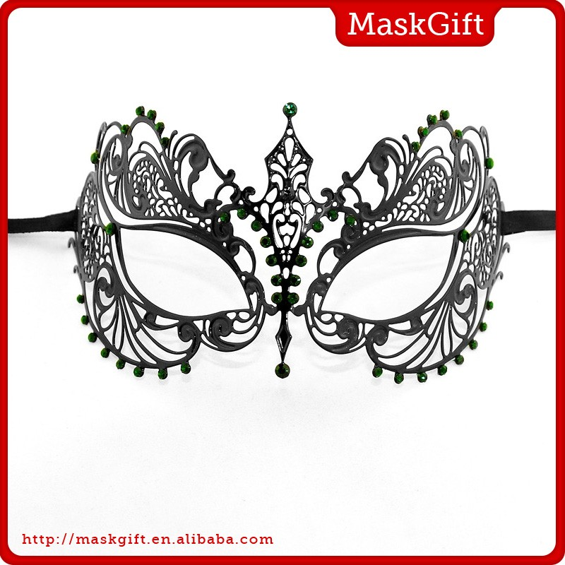 Fashion & popular black metal party mask for festival