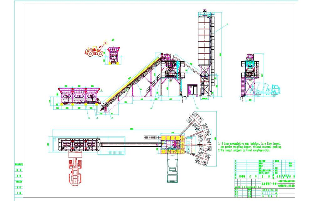 工程型搅拌站布局图