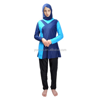 New design accept customize wholesale women swimwear Muslim