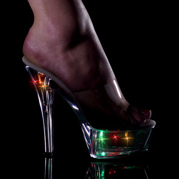 60535972743f ... women 7 inch platform sexy clubbing Exotic Dancer high heels punk  sandals  Фотография 15cm sexy high-heeled shoes night light colorful  crystal shoes ktv ...