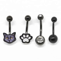 316l stainless steel belly button turkish body piercing jewelry