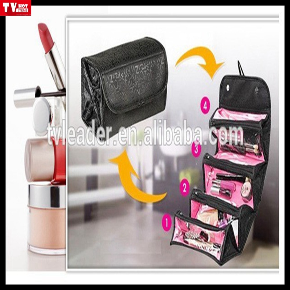 Roll-Up Foldable Travel/Jewelry/Electronics Organizer Pouch Toiletry Makeup holder Cosmetics bag case