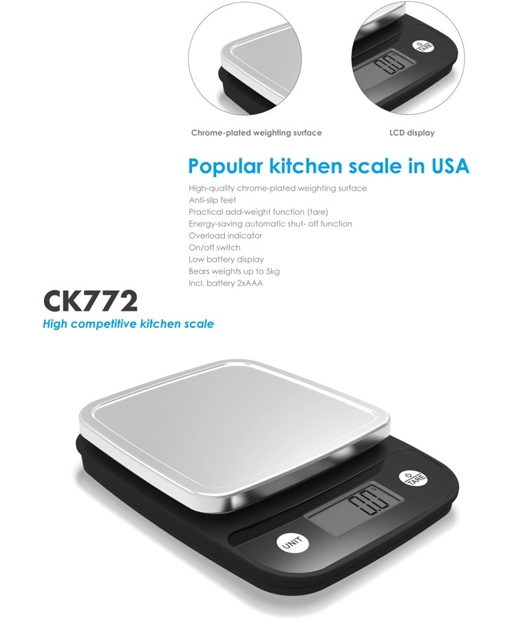 Manufacturer 5kg 1g Precision Electronic Nutrition Food Kitchen Digital Weighing Scale