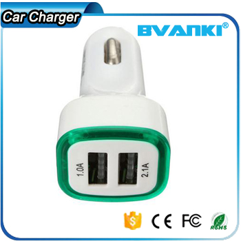 New Style High Performance Universal Mini <strong>Portable</strong> Fast Charging Car Battery Charger USB Dual Car Charger