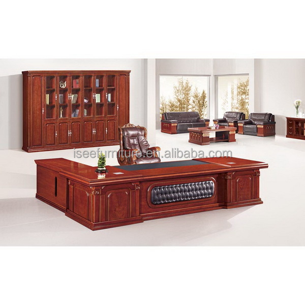 antique solid wood executive office furniture for boss