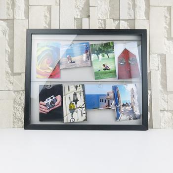 Pdecorative Kayu Rak Dinding Bingkai Foto Diy Garis Metalik Dengan 11 Klip Gambar