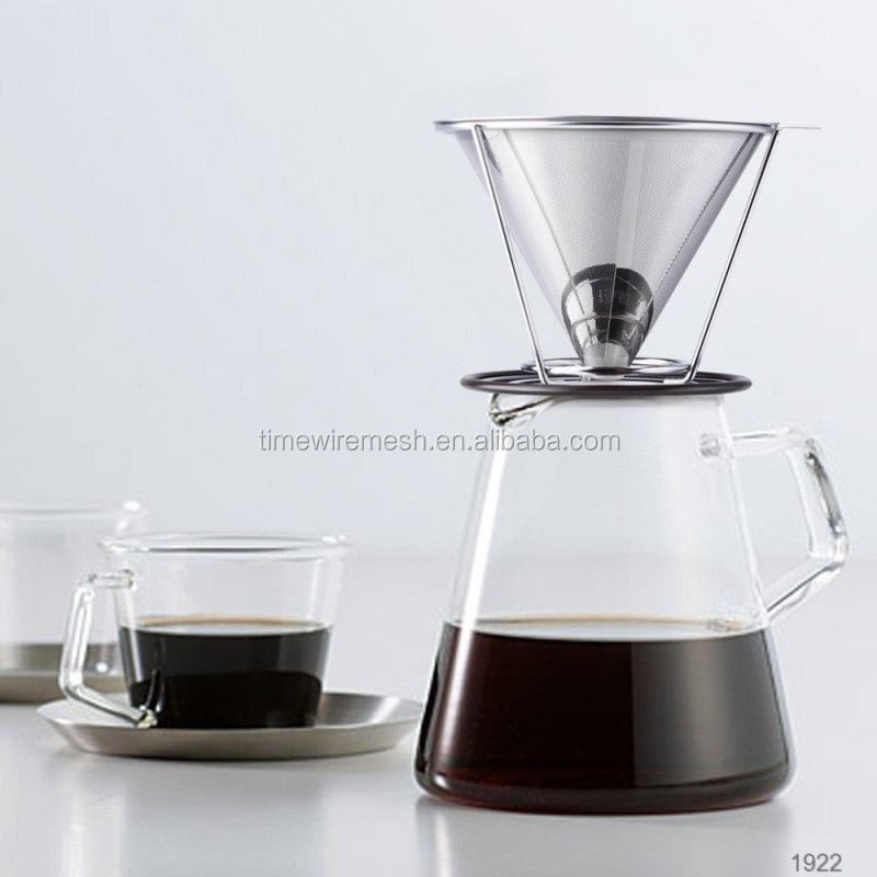 shopping websites food grade 304 cold washable coffee filter stainless steel coffee dripper