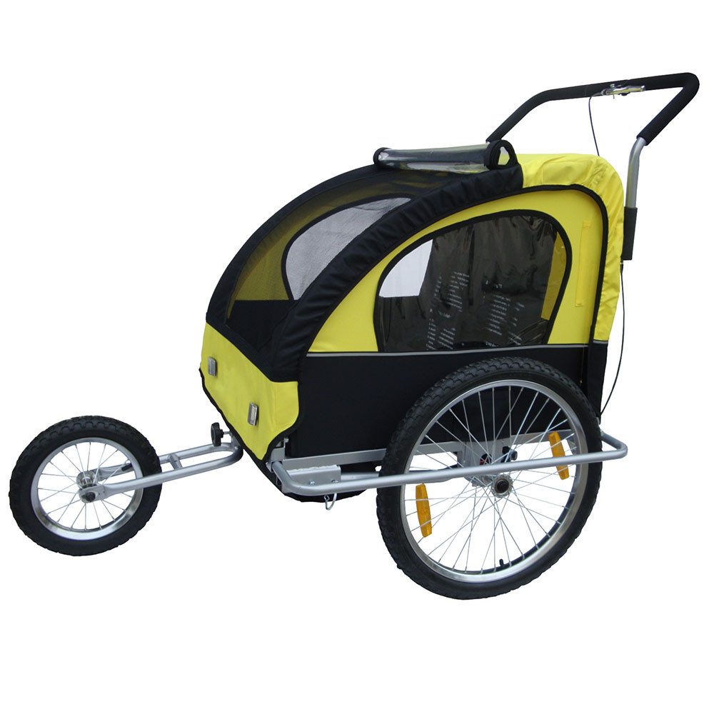 2in1 Double Child Baby Bike Trailer