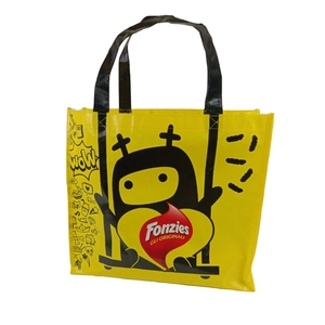 Promotional pp non woven printed tote shopping bag wholesale reusable customized non woven shopping bags with logo lamination