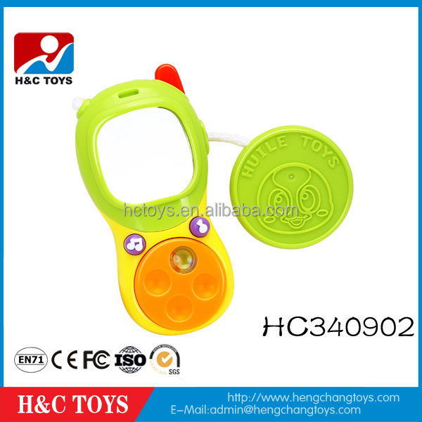 Funny kid toy plastic baby toy musical mobile phone for kids HC340902