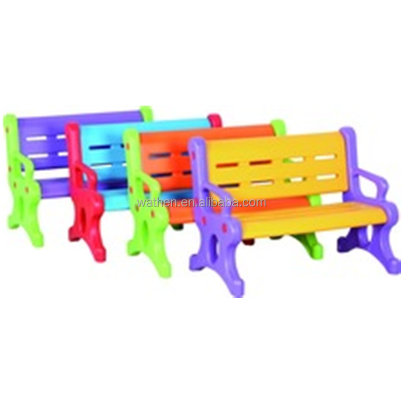 Plastic Children Chair and bench for kindergarten, square, half moon, kid desk and chair set