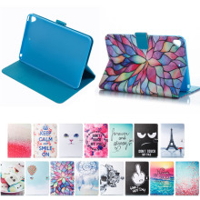 Wholesale price color carton printing cat leather case for ipad mini 5, for ipad mini cover