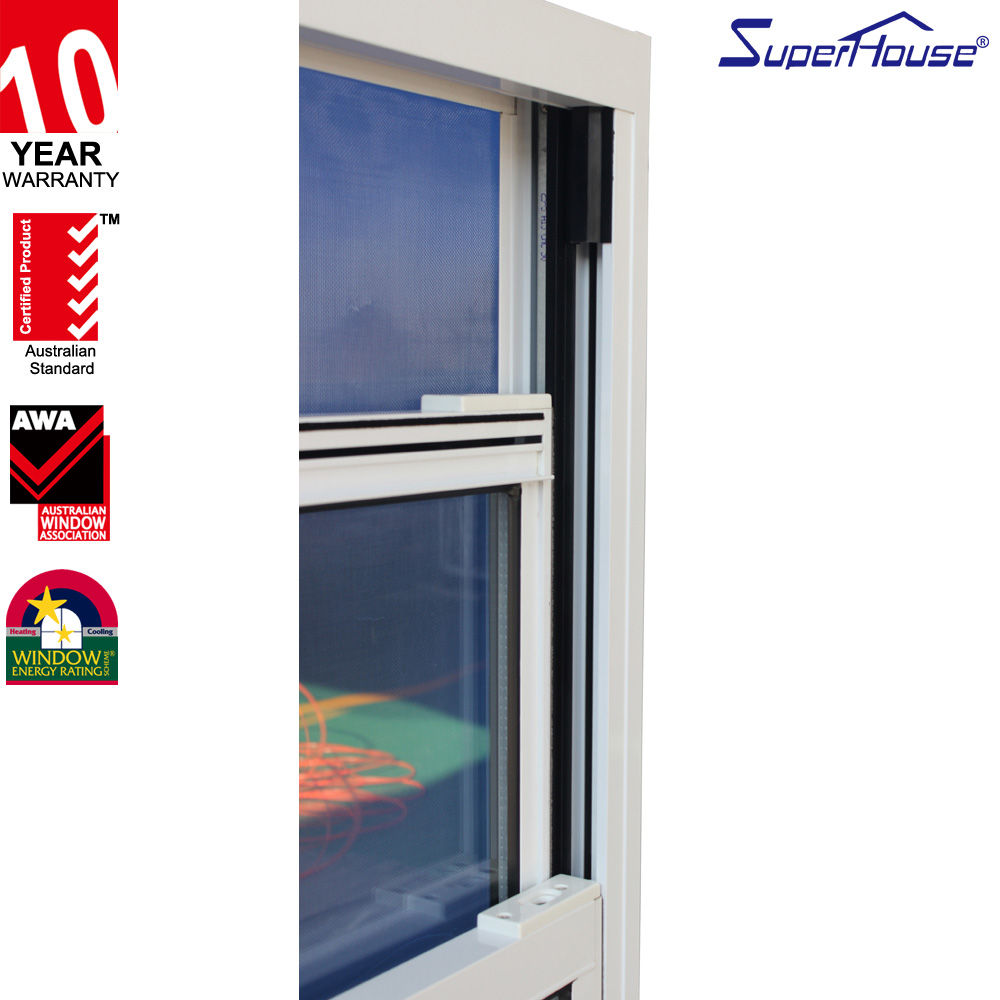 Australian certified, New Zealand, AAMA, Miami Dade approved impact insulated glass aluminium vertical slider window