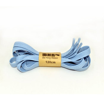 custom sky blue color flat elastic stretch shoe lace/shoe laces/shoelaces