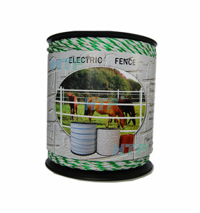 Electric fencing polywire for farm animals used horse stalls