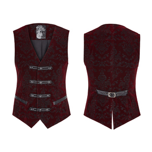 Y-813 Gothic waistcoats Europe royal double-breasted waistcoats men
