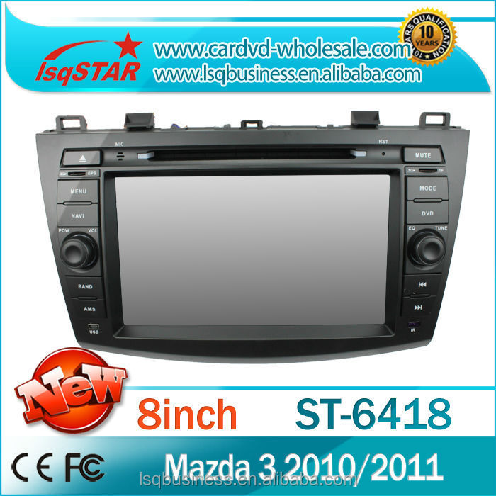 LSQ Star Mazda 3 2010 car dvd player, support bose system, with gps, radio rds, v-cdc charger, ipod, bt, tv, steering
