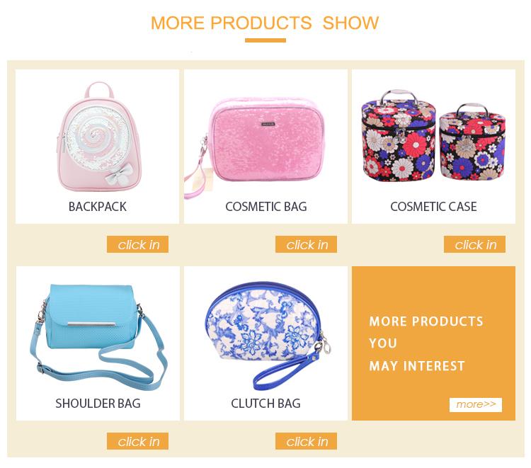공장 직접 판매 환경 소재 여성 매일 쉐브론 스파 화장품 가방