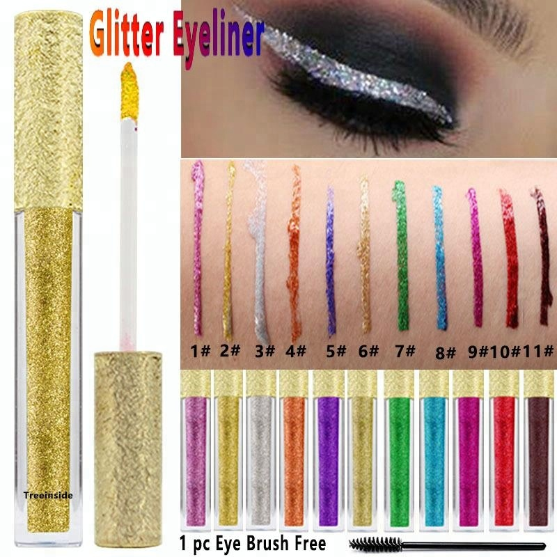 Beauty Essentials Professional Sale 12 Color Eye Shadow Liquid Glitter Eyeshadow Long-lasting Waterproof Make Up Purple Blue Red Green Liquid Metalic Eye Shadow Skillful Manufacture