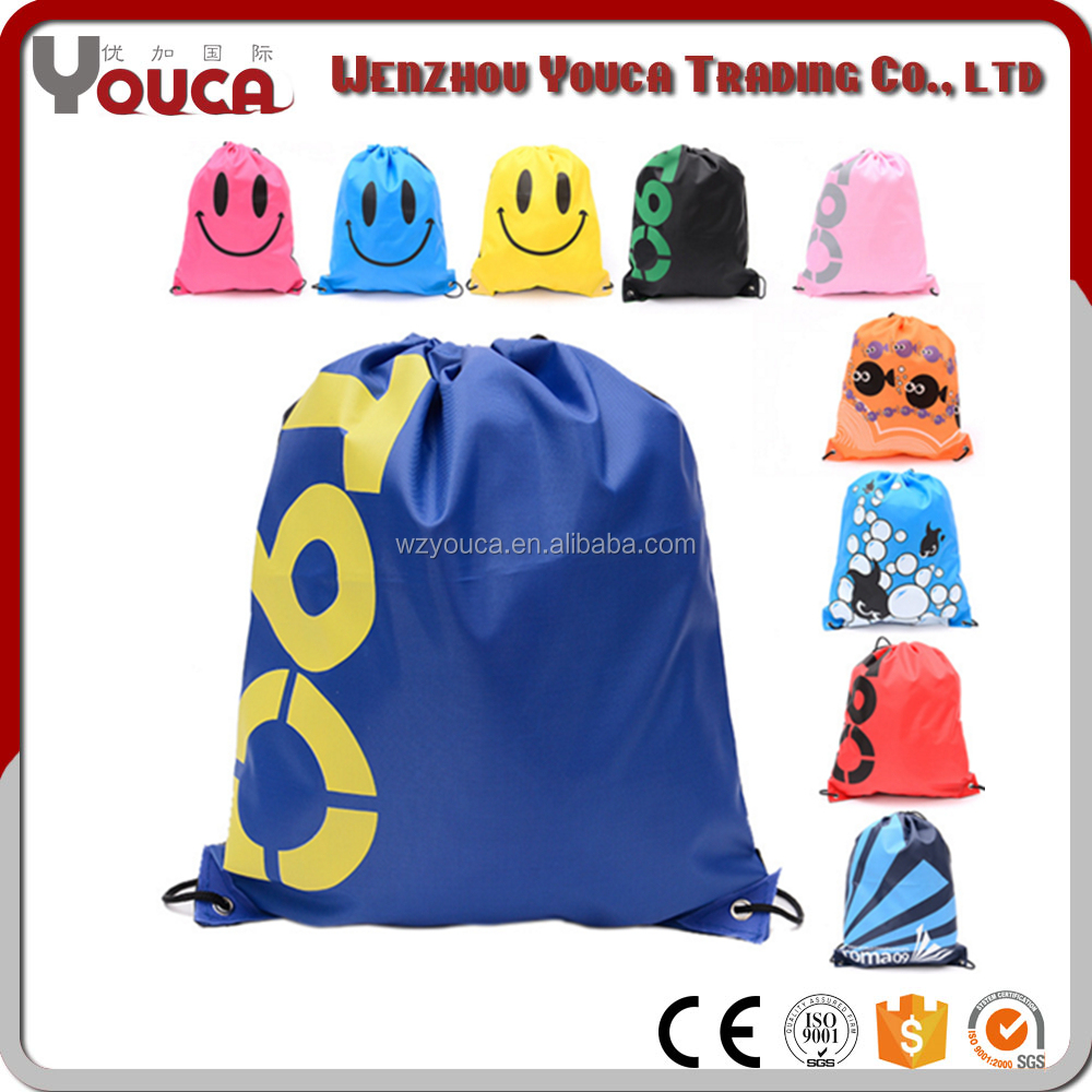 wholesale leisure back pack oxford fabric backpack outdoor travel bag drawstring bags