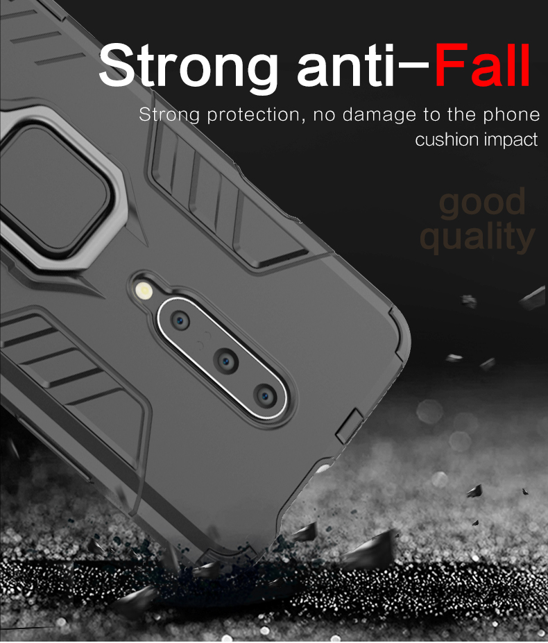 Low price ultra thin matel ring holder magnet back cover for Oneplus 7 Pro cover shockproof