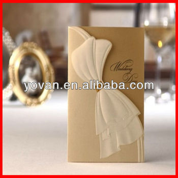 2014 New Design Fashion Luxury Creative Wedding Invitation Card