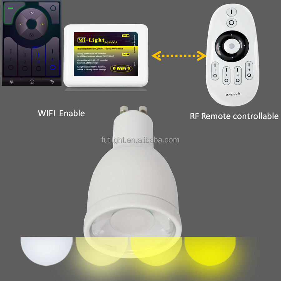 Gu10 Led Bulbs With Dimming Function Support Night Light Mode,Led ...