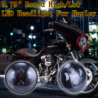 2016 New version With/Without halo 5.75 led headlight motorcycle