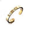 Engraved Bland Rose Gold 316L Stainless Steel Stamp Open Cuff Rings
