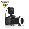 Aputure ring led light for Nikon HN100 with 8 lens adapter 49mm-77mm