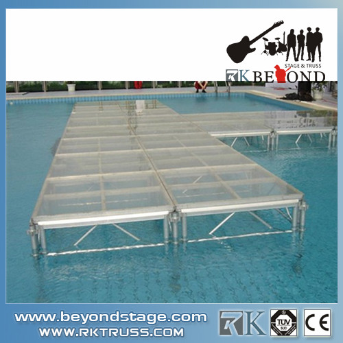 Swimming Pool Stage : Glass platform for swimming pool buy stage