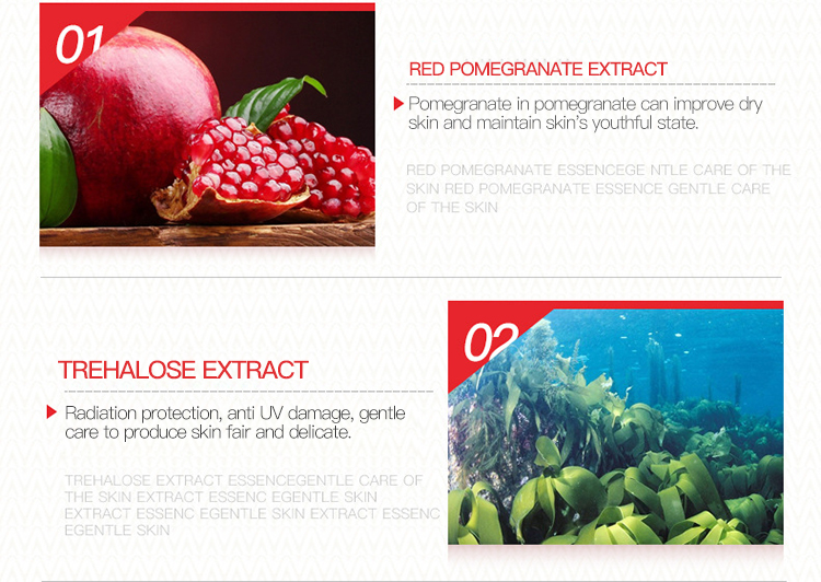 15ml IMAGES hot sale face care Red Pomegranate extraction Moisturizing Whitening care facial Serum