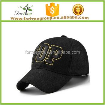 Outdoor Leisure Hat 100% Wool Felt Baseball Cap - Buy 100% Wool Felt ... 5e7d75efe45