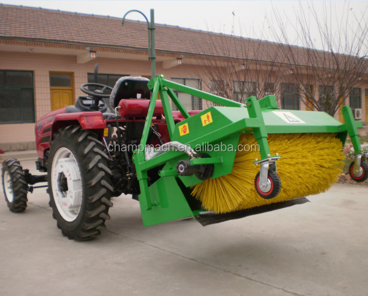 20-30hp mini tractor mounted street sweeper for sale
