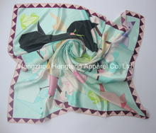 Digital Print Silk Scarf 90x90cm
