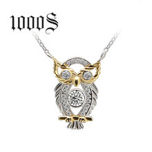 2016 New Arrival Owl Pendant Necklace, Silver Owl Necklace