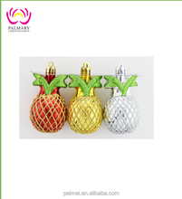 cheap craft christmas Mix colors Pine apple toys decoration ,hanging christams decoration