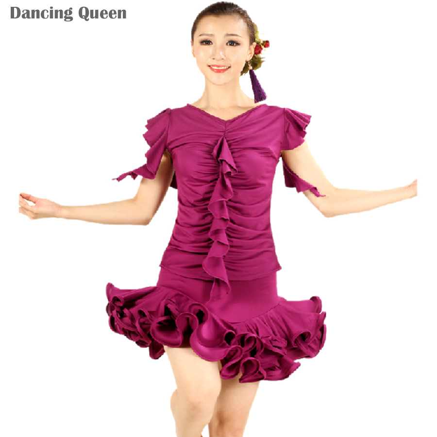 dafc080b53042 Buy 2015 New Lady Latin Competition Dress Dance Dresses With Fringe Women  Latin Dance Skirt Samba/Cha Cha/Rumba/Tango Dress DQ3021 in Cheap Price on  ...