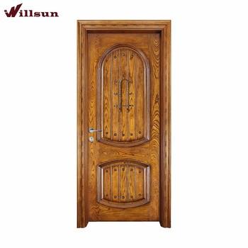 Old Wood Door Pattern With Steel Decoration For Entrance Doors Buy