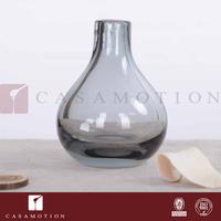 Casamotion Decorative Smoke Coloured Handmade Living Room Decoration Glass Flower Vase