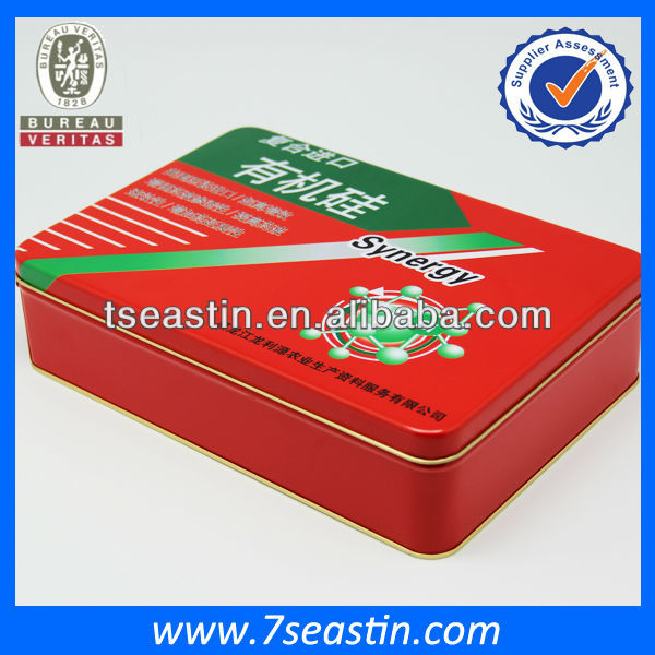 plant seed packaging tin can / health food tin box / storage square container