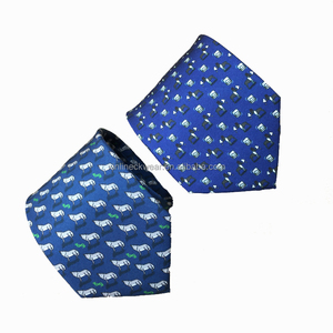 100% Handmade Perfect Knot Silk Printed Neck Tie Wholesale Dealer