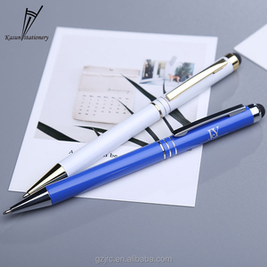 Functional 2 in 1 New Stylus Metal Pen Touch Pen with Touch Screen Gift