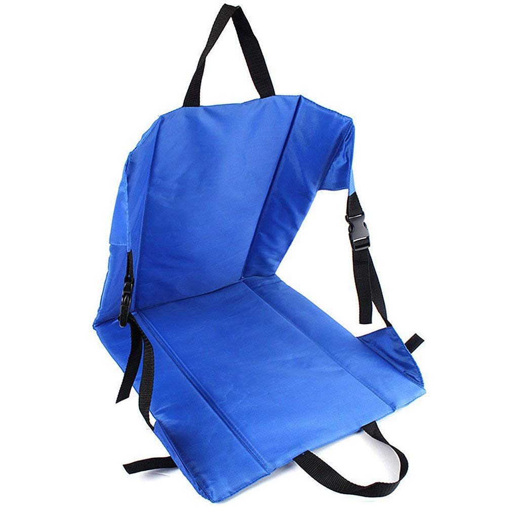 Folding Fishing/Camping Chair, Blue Luxury Chair Cushion for Garden Patio Steamer Lounger,Outdoor Folding Fishing Chair Seat & Back Pad, for Car Seat Stadium Seat Padding