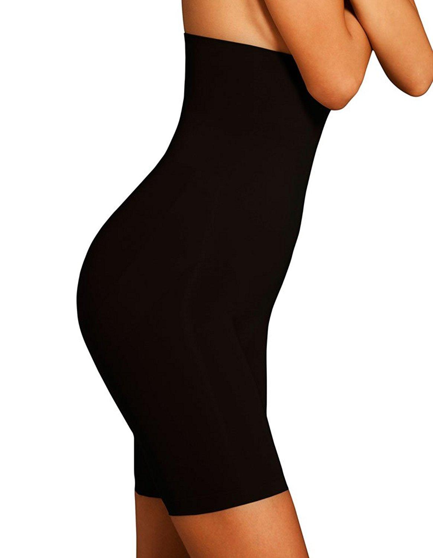 Body Wrap Lites Catwalk High Waist Black Long Leg Panty 47821