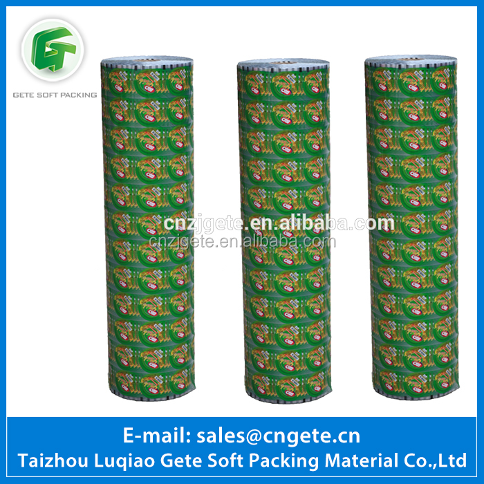 China Supplier Hot Selling Fruit Jelly Roll Plastic Cup Sealing Film