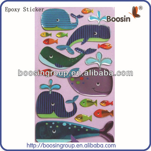Hot Design Glitter Clear Epoxy Dome Sticker