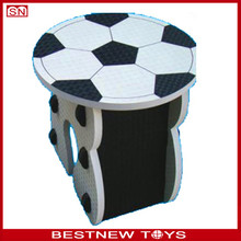 Eco-friendly kids foam chair fun football shape chair for children